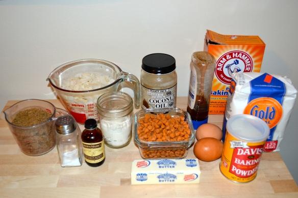 Coconut Cookie Ingredients