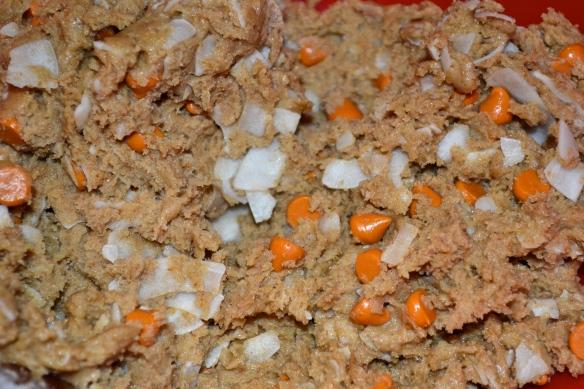 Coconut butterscotch cookie dough