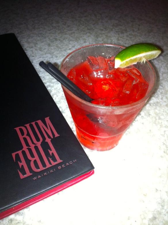 Rum Fire Cocktail Honolulu