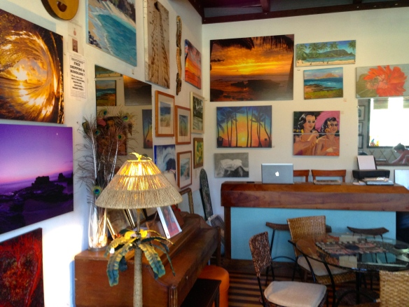 Inside Waimanalo Beach Cafe & Gallery