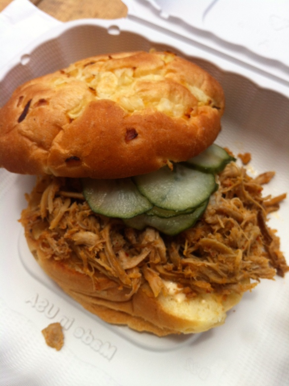 The Whole Ox Pulled Pork Sandwich