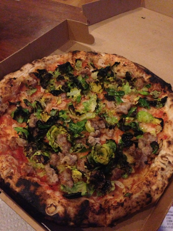 Brussels sprouts pizza Motorino