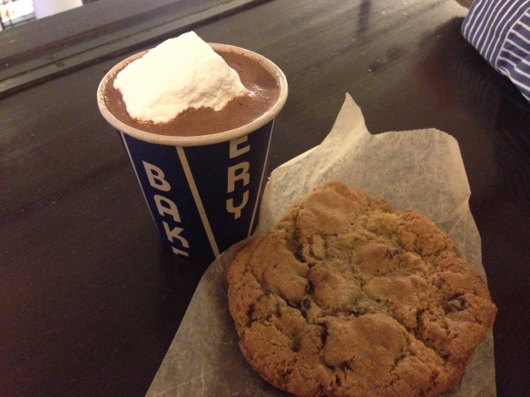 City Bakery NYC hot chocolate & cookie