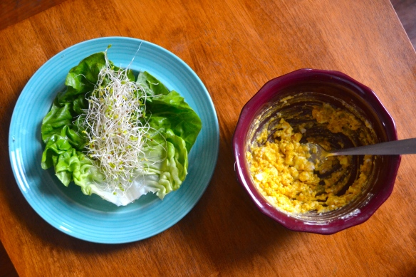 Egg Salad Lettuce Wrap