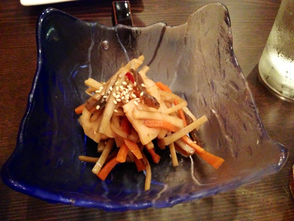 Burdock root salad
