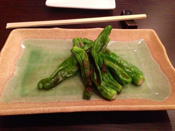 Sushi Dojo shishito peppers
