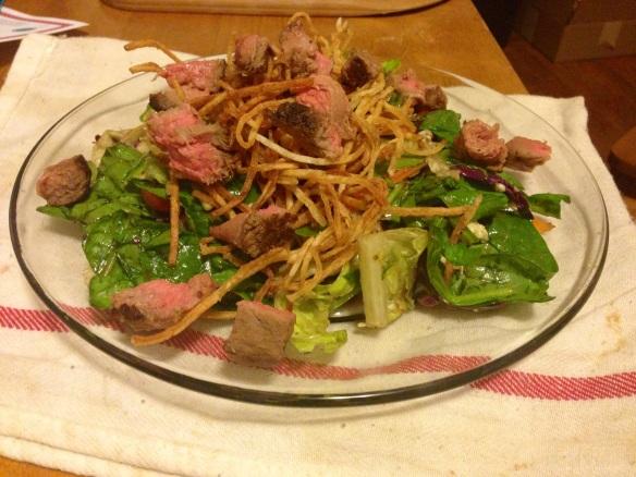 Steak Leftovers Salad