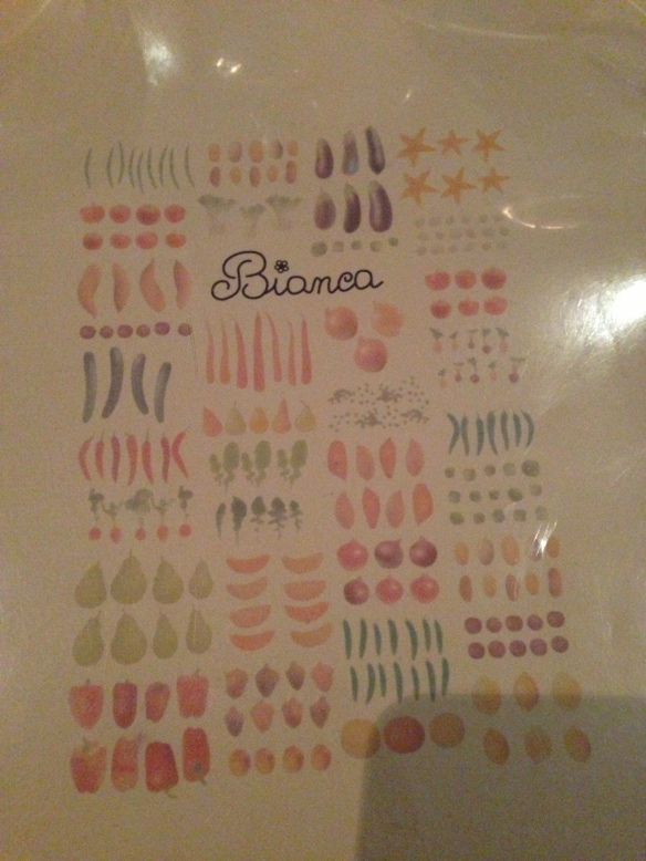 Bianca NYC Menu