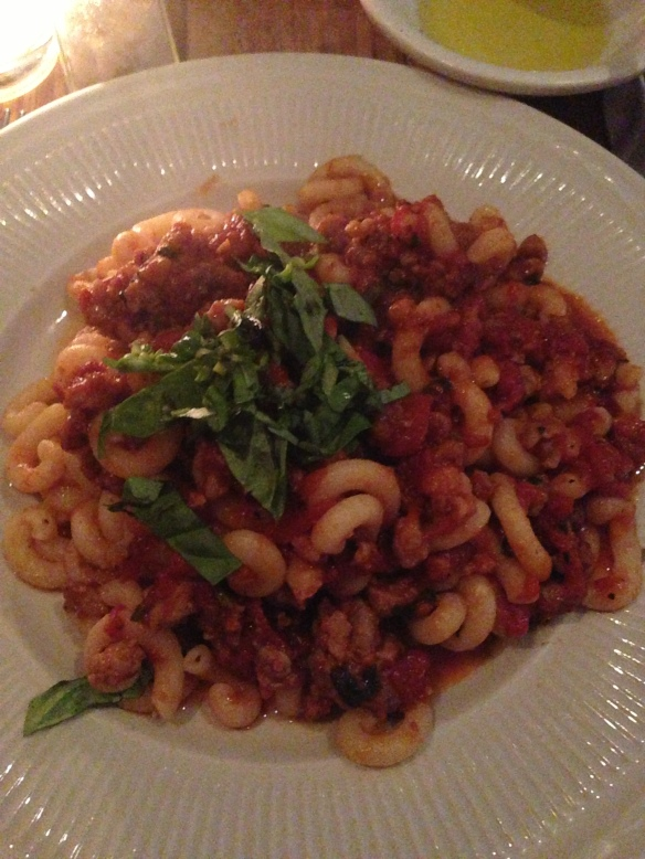 Bianca NYC pasta with red sauce