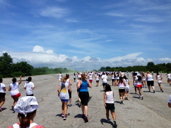 Running the color mob 5K