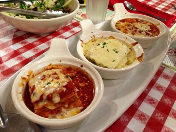 3 Lasagnas at Buca di Beppo