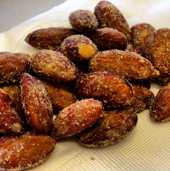 Wasabi soy sauce almonds
