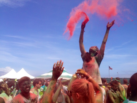 Color run 5K red powder