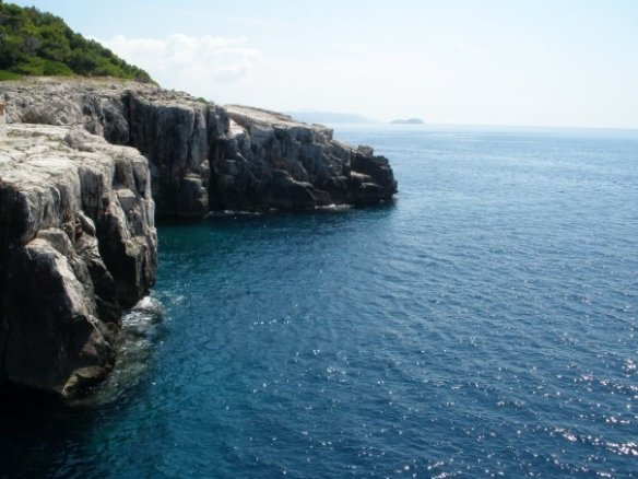 rock cliffs on Lokrum