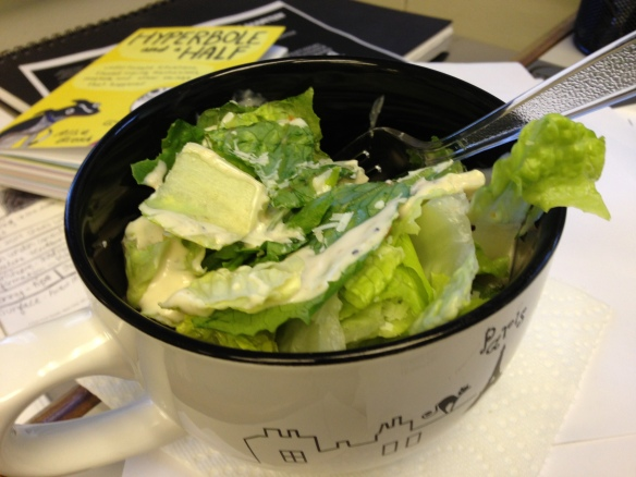 Caesar salad in a cup