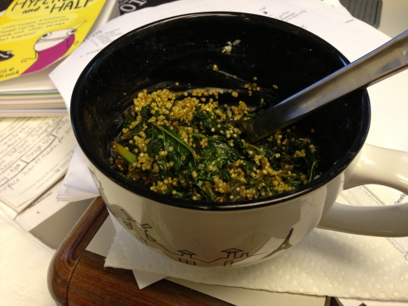 Miso kale with quinoa