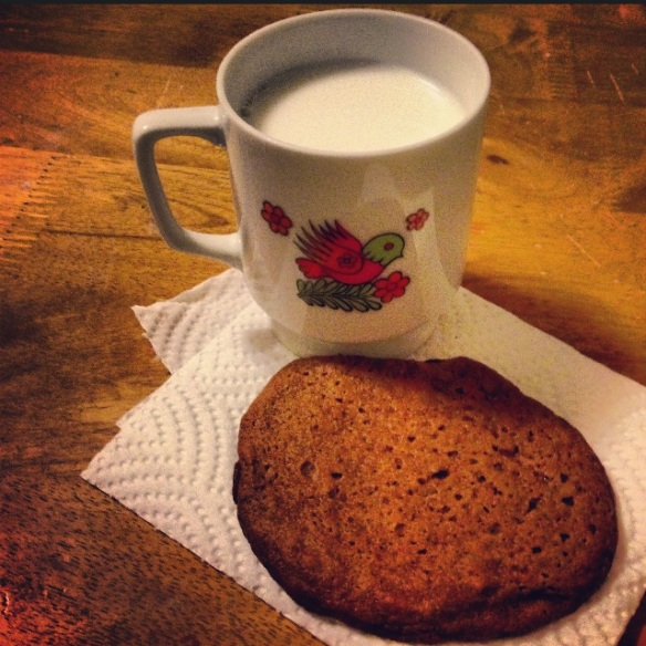 molasses cookie & milk