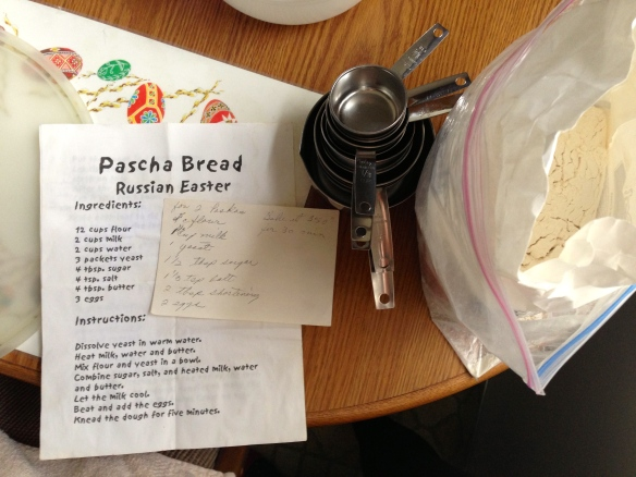 making pascha bread