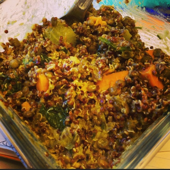 WIAW quinoa with veggies