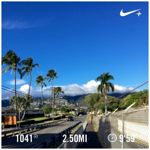 running in Kahala