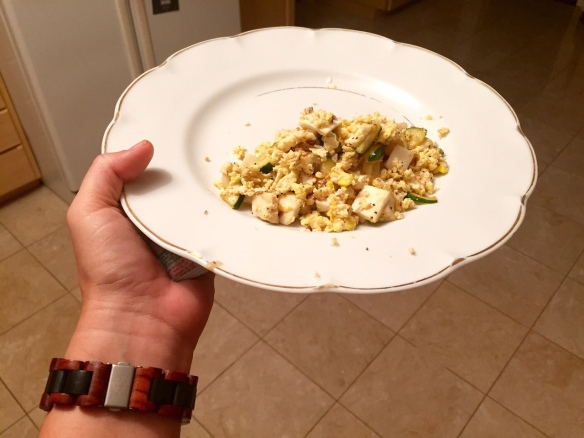 scrambled egg dinner